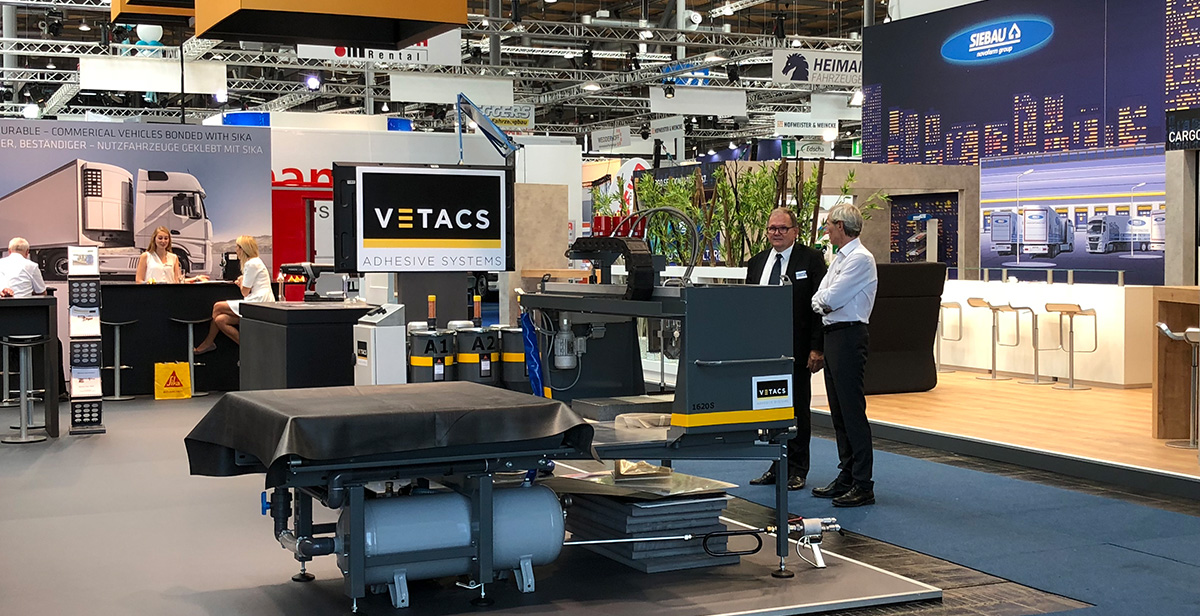 IAA 2018 stand - Vetacs Adhesive Application Systems